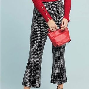Anthropologie Crop Flare Pants Size XL